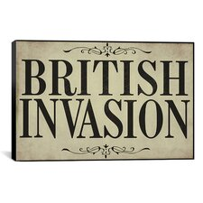 Color Bakery British Invasion Textual Art on Canvas