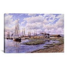 """Banning Wharf, California 1880"" by Stanton Manolakas Painting Print on Canvas"