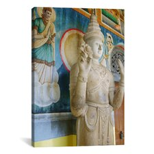 Buddhist Statue Photographic Print on Canvas