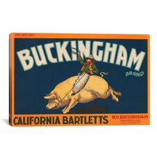Buckingham California Bartletts Label Vintage Advertisement on Canvas