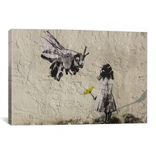Street Art Bee Masked Graphic Art on Canvas