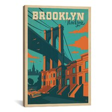 Brooklyn, New York by Anderson Design Group Vintage Advertisement on Canvas
