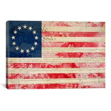 Betsy Ross, U.S. Flag 13 Stars Graphic Art on Canvas