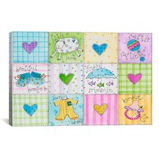 "Pat Yuille ""Baby Patchwork 1"" Canvas Wall Art"
