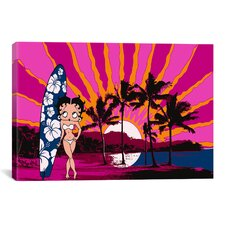 Betty Boop Hawai Graphic Art on Canvas