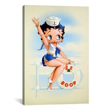 Betty Boop Sailor Graphic Art on Canvas