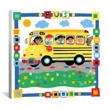 """Bus"" Canvas Wall Art by Cheryl Piperberg"