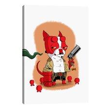 'BT Hell Boy' by Brian Rubenacker Graphic Art on Canvas