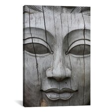 Buddha's Face Photographic Print on Canvas