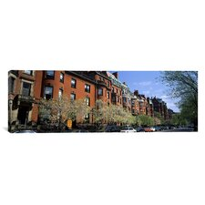 Panoramic Buildings in a Street, Commonwealth Avenue, Boston, Suffolk County, Massachusetts Photographic Print on Canvas