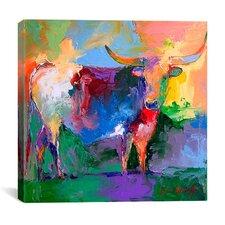"""Bull"" Canvas Wall Art By Richard Wallich"