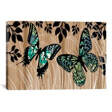Butterfly Patchwork by Erin Clark Graphic Art on Canvas