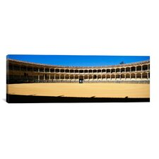 Panoramic Bullring, Plaza De Toros, Ronda, Malaga, Andalusia, Spain Photographic Print on Canvas