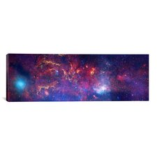 Astronomy and Space Center of The Milky Way Galaxy (Chandra / Hubble / Spitzer) Photographic Print on Canvas