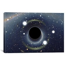Astronomy and Space Black Hole MAXI Absorbing a Star (XMM-Newton Space Telescope) Photographic Print on Canvas