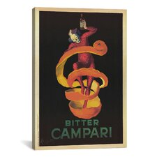 'Bitter Campari (Vintage)' by Leonetto Cappiello Vintage Advertisement on Canvas