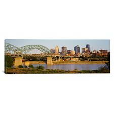 Panoramic Bridge over a River, Kansas city, Missouri Photographic Print on Canvas