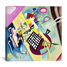 'Black Grid' by Wassily Kandinsky Painting Print on Canvas