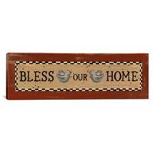 'Bless Our Home' by Erin Clark Textual Art on Canvas