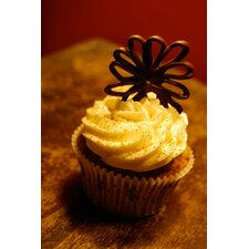 Food and Cuisine Chocolate Cupcake Photographic Print on Canvas