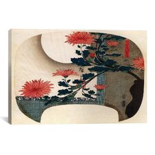 Ando Hiroshige 'Chrysanthemums' by Utagawa Hiroshige l Graphic Art on Canvas
