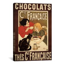 Chocolats Cie Francaise Vintage Advertisement on Canvas