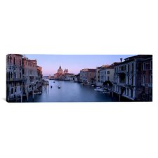Panoramic Buildings along a Canal, Santa Maria Della Salute, Venice, Italy Photographic Print on Canvas