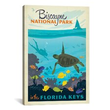 Biscayne National Park, Florida Keys by Anderson Design Group Vintage Advertisement on Canvas