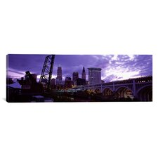 Panoramic Detroit Avenue Bridge, Cleveland, Ohio Photographic Print on Canvas