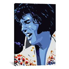 Blue Elvis (Presley) Graphic Art on Canvas