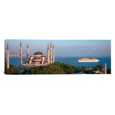 Panoramic Blue Mosque Istanbul Turkey Photographic Print on Canvas