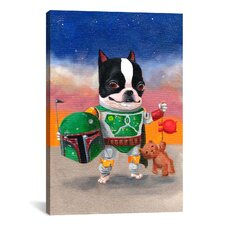 'Boba Terrier' by Brian Rubenacker Graphic Art on Canvas