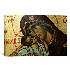 Photography Christian Icon Virgin Mary Painting Print on Canvas