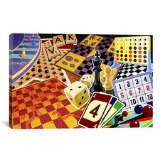 Kids Children Board Games Canvas Wall Art
