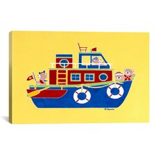 "Shelly Rasche ""Boating Bears"" Canvas Wall Art"