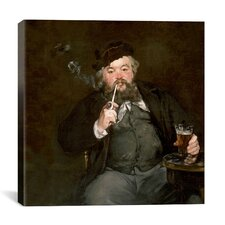 """A Good Glass of Beer (Le Bon Bock)"" Canvas Wall Art by Edouard Manet"