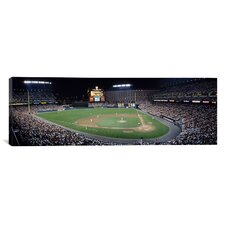 Panoramic Baseball Game Camden Yards Baltimore MD Photographic Print on Canvas