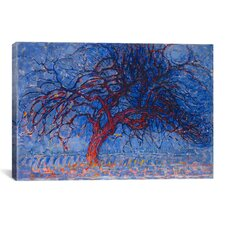 'Avond (Evening) The Red Tree, 1910' by Piet Mondrian Painting Print on Canvas