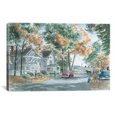 'Autumn on Gwenn Dr' by Stanton Manolakas Painting Print on Canvas