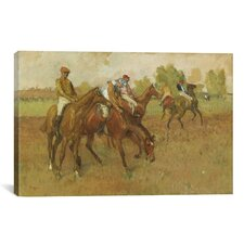 'Avant La Course 1882-1888' by Edgar Degas Painting Print on Canvas