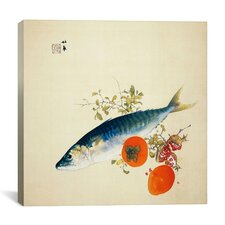 """Autemn Fattens Fish and Ripens Wild Fruits"" Canvas Wall Art by Takeuchi Seiho"