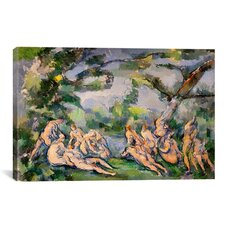 'Bathers 1' by Paul Cezanne Painting Print on Canvas