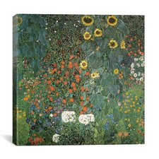"""Bauerngarten mit Sonnenblumen (Flower Garden with Sunflowers)"" Canvas Wall Art by Gustav Klimt"
