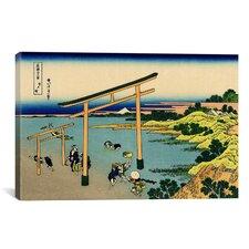 'Bay of Noboto' by Katsushika Hokusai Painting Print on Canvas