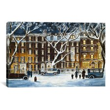 'Beacon Street, Ma 1926' by Stanton Manolakas Painting Print on Canvas