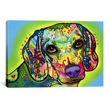 'Beagle' by Dean Russo Graphic Art on Canvas