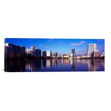 Panoramic Buildings at the Waterfront, Lake Eola, Orlando, Orange County, Florida, 2010 Photographic Print on Canvas