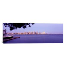 Panoramic Buildings at the Waterfront, San Diego, California Photographic Print on Canvas