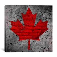 Canadian Flag, Maple Leaf #12 Graphic Art on Canvas