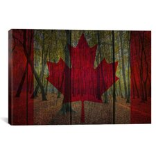 Canadian Flag #3 Graphic Art on Canvas